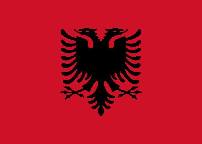 Bandera de la republica Albania