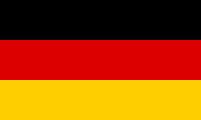 Bandera de la republica Alemania