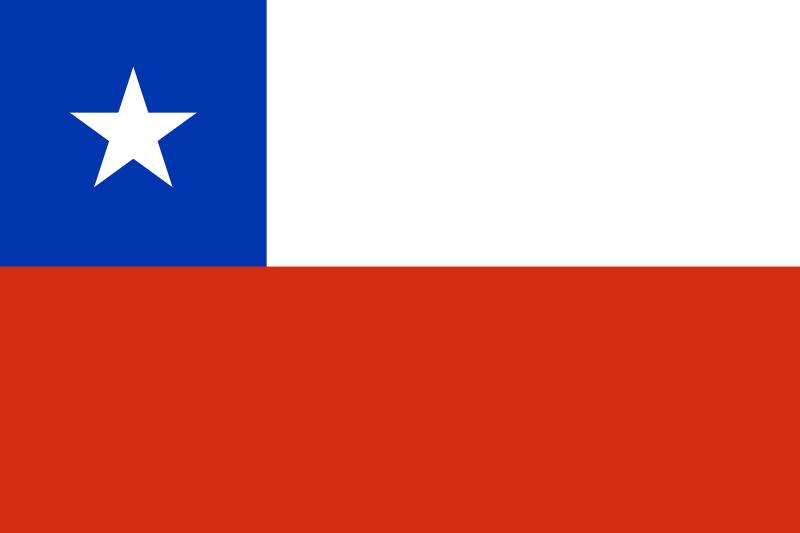 Bandera de la republica de Chile