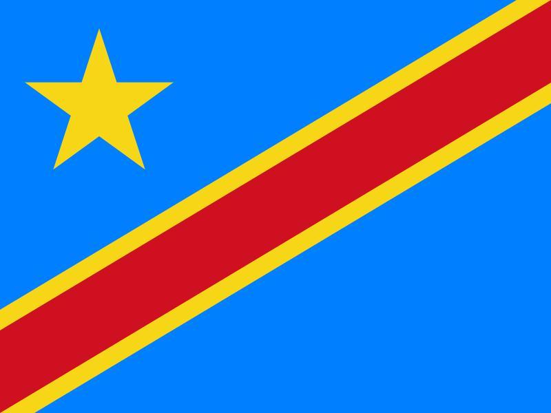 Bandera de la República Democratica del Congo