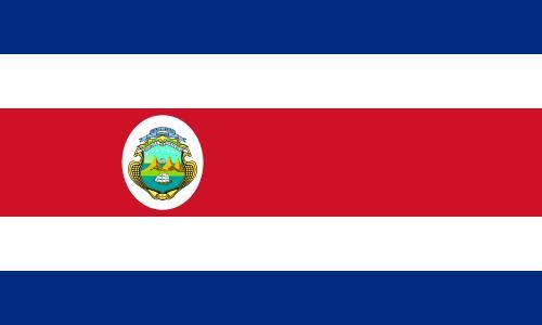 Bandera de la republica de Costa Rica