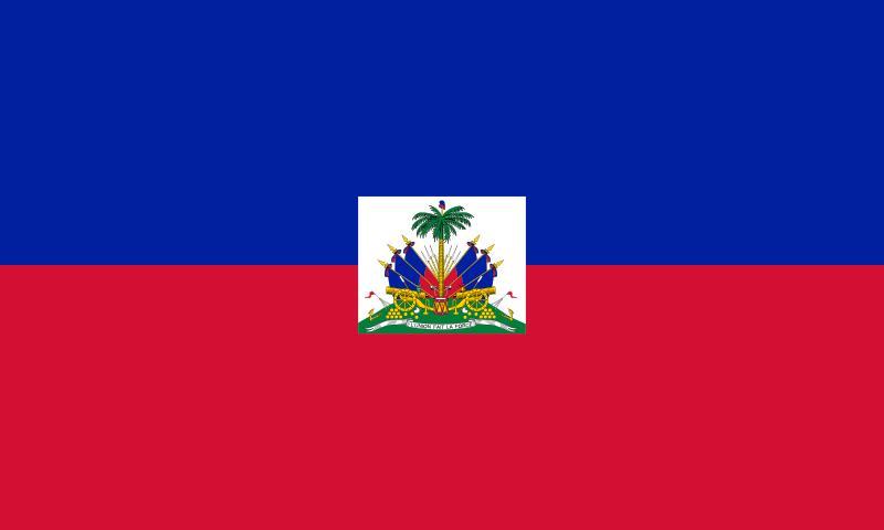 Bandera de la republica de Haití