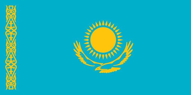 Bandera de Kazajistan