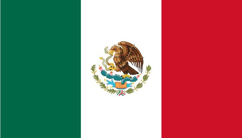 Bandera de Estados Unidos Mexicanos