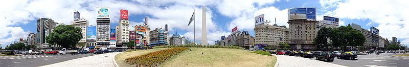 Buenos Aires Capital de Argentina  calle 9 de julio la mas ancha del mundo