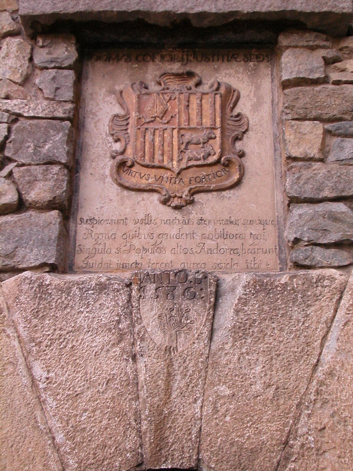 Escudo del principado de andorra