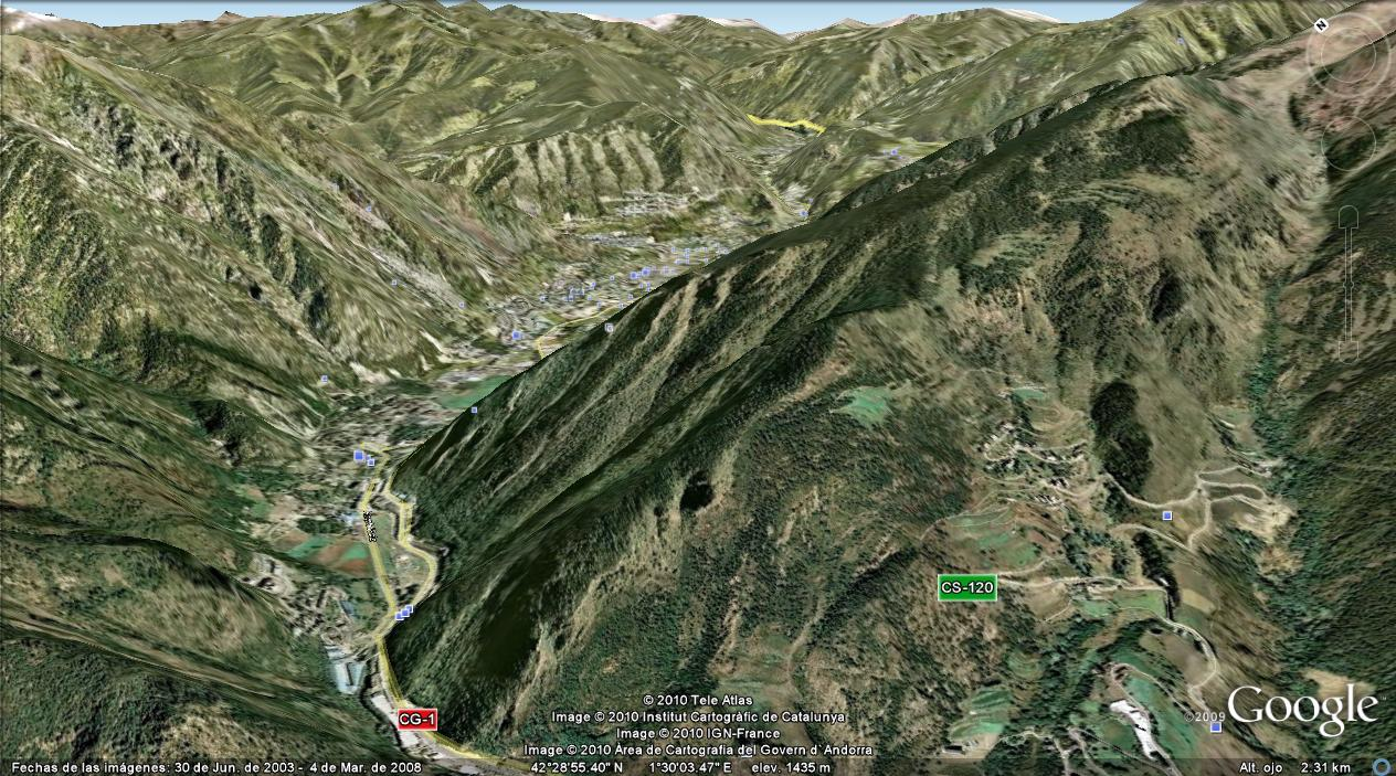 Andorra la vella imagen de satelite