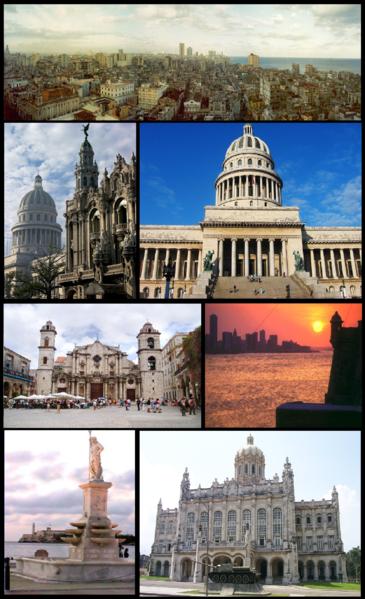 La Habana diferentes lugares de la capital cubana