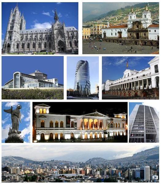 Diferentes puntos de Quito capital de ecuador