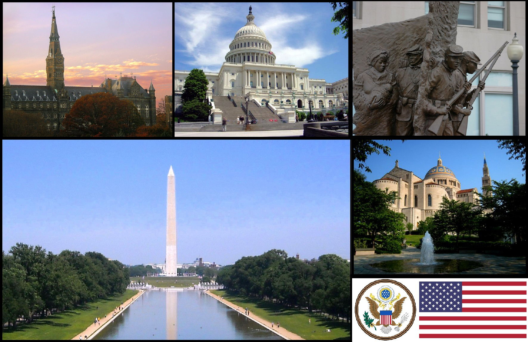 Diferentes puntos de washington dc