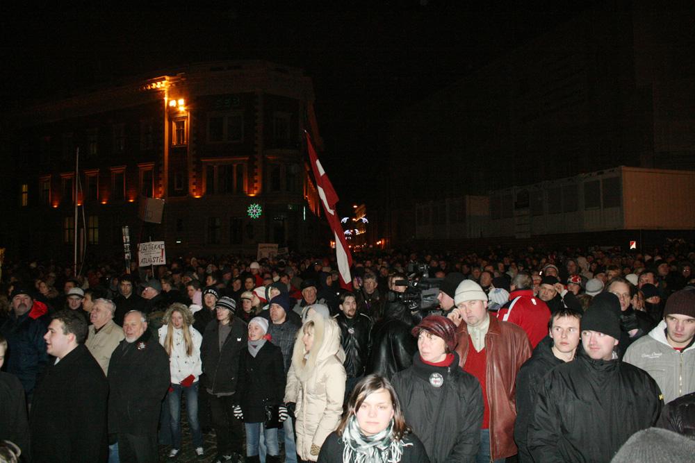 Disturbios de Riga en Letonia en enero del 2009