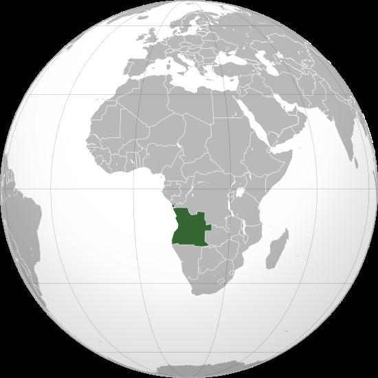 Mapa de la republica de Angola