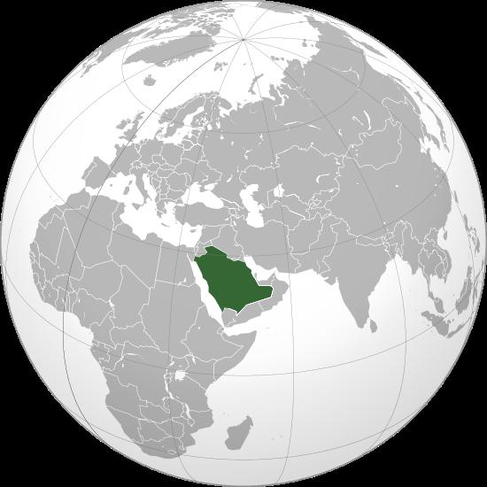 Mapa de Arabiasaudita