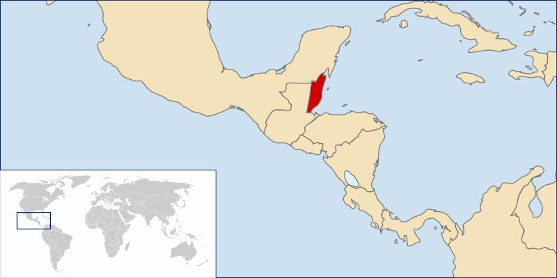Mapa de Belize