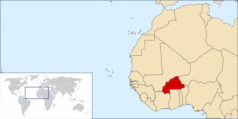 Mapa de Burkinafaso