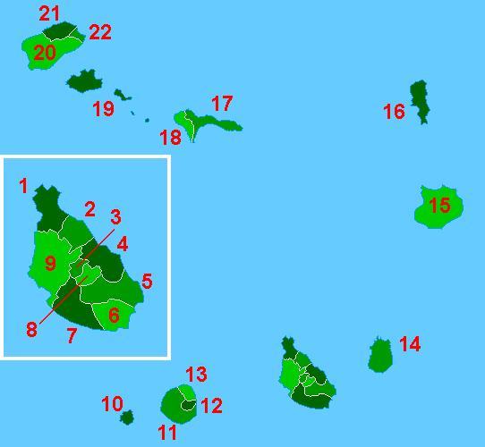 regiones de cabo verde