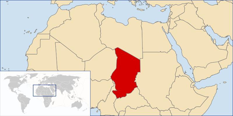 Mapa de la republica de Chad