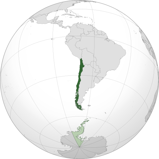 Mapa de la republica de chile