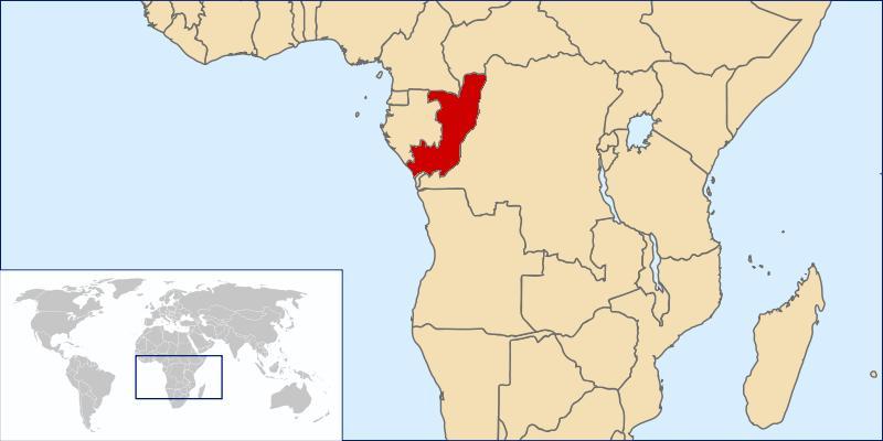 Mapa del Congo