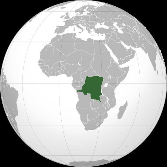 Mapa de la republica democratica del Congo