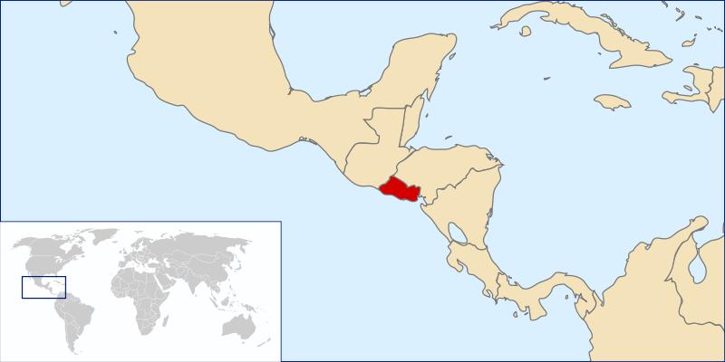 Mapa de Elsalvador