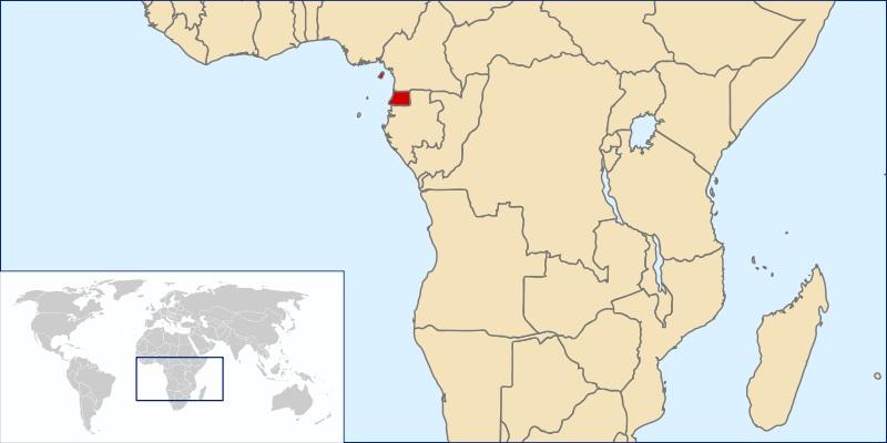 Mapa de Guineaecuatorial