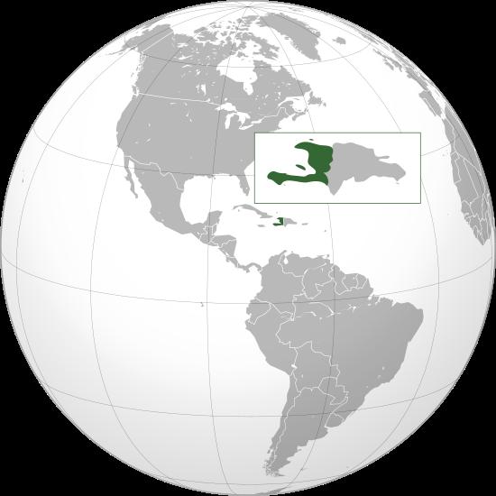 Mapa de la republica de Haití