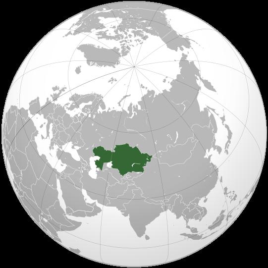 Mapa de la republica de Kazajistan
