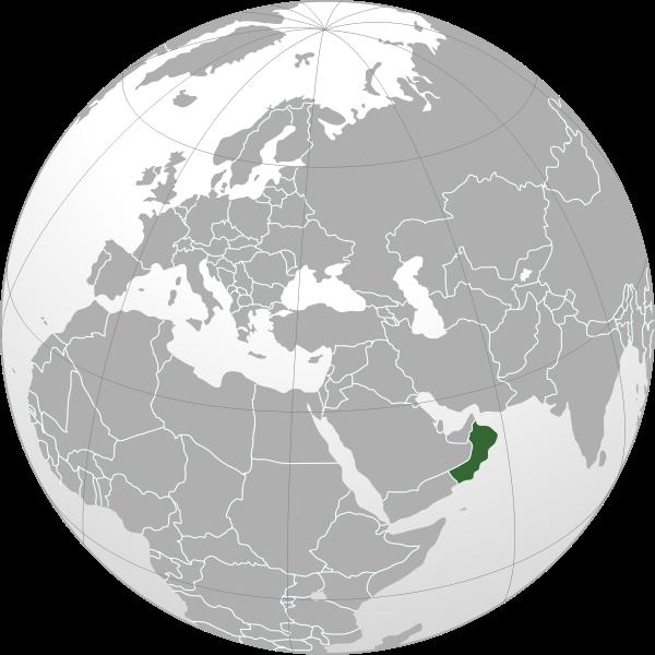 Mapa de Oman